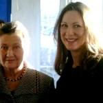 Avec la première présidente du parlement européen: madame Simone Veil